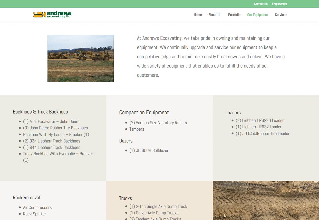 Screenshot_2019-08-13 Our Equipment Andrews Excavating